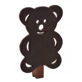 Pinces ardoises ourson (x6) chocolat