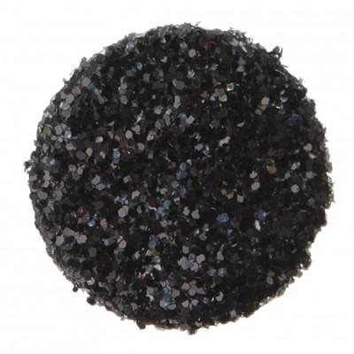 Confettis ronds pailletés (x50) noir