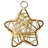 Mini étoiles fil (x6) or