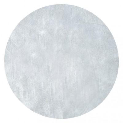 Sets ronds intissés métallisés argent (x6)