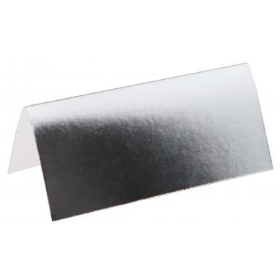 Marque-places métallisés (x10) argent
