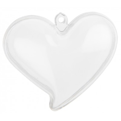 Cœurs glamour (x4) transparent