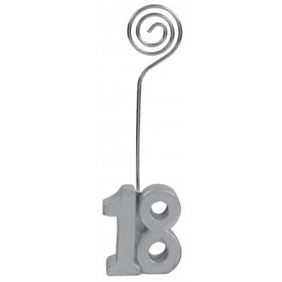 Marque-places âge 18 (x2) argent