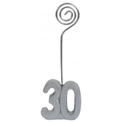 Marque-places âge 30 (x2) argent