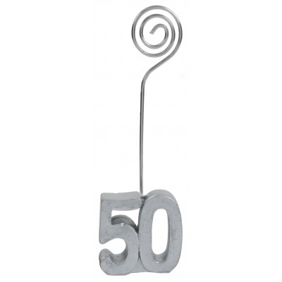 Marque-places âge 50 (x2) argent