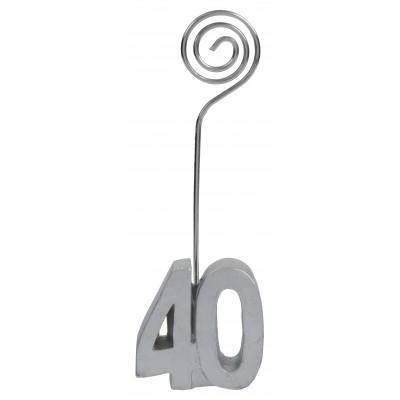 Marque-places âge 40 (x2) argent