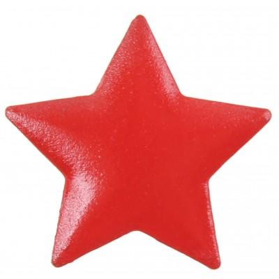 Etoiles métal (x6) rouge
