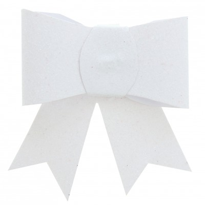 Noeuds pailletés sur pince (x2) blanc