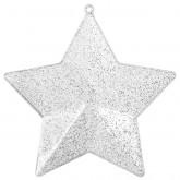 Étoiles pailletées à garnir (x4) argent