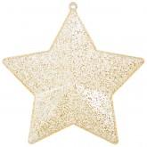 Étoiles pailletées à garnir (x4) or
