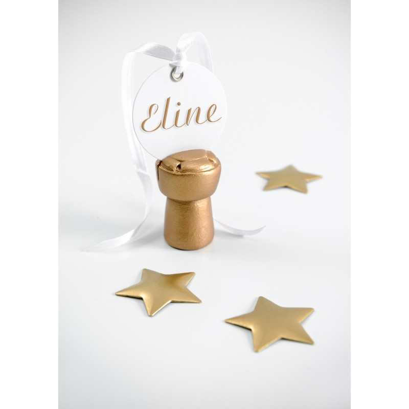 Marque places bouchon de champagne x2 or - Marque place bouchon ...