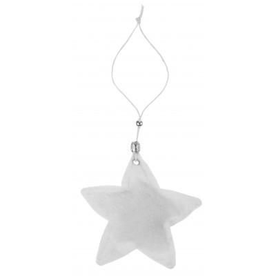 Pendentifs étoile esprit fourrure (x2) blanc