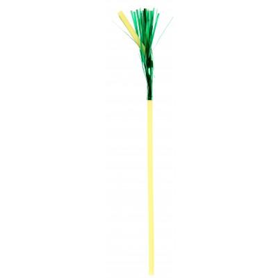 Pailles c'est la fête (x10) jaune-vert