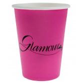 """Gobelets """"Glamour"""" (x10) fuchsia noir"""