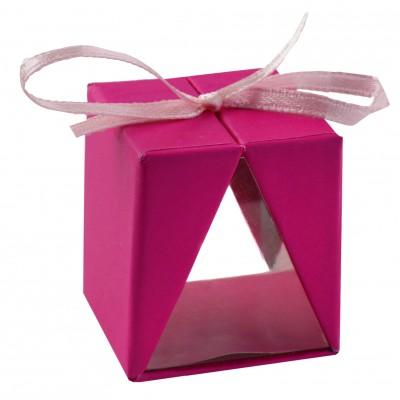 Boîtes cadeau (x4) fuchsia