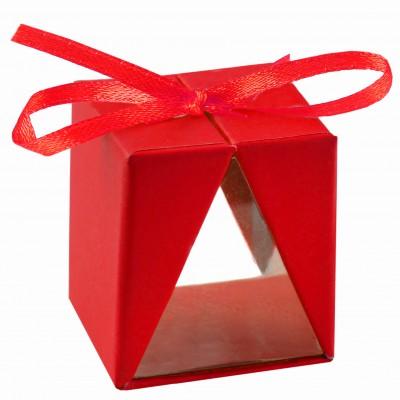 Boîtes cadeau (x4) rouge
