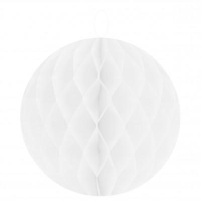 Boules décoratives alvéolées MM (x2) blanches