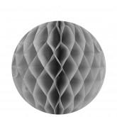 Boules décoratives alvéolées MM (x2) grises