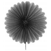 Eventail décoratif (x2) gris