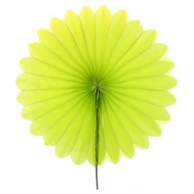 Eventails décoratifs (x2) vert anis