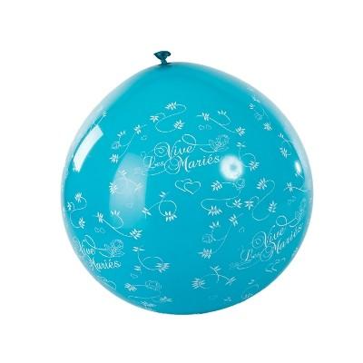 Ballon géant vive les mariés turquoise