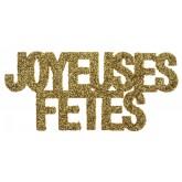 """Confettis pailletés Joyeuses Fêtes"""" or (x6)"""""""