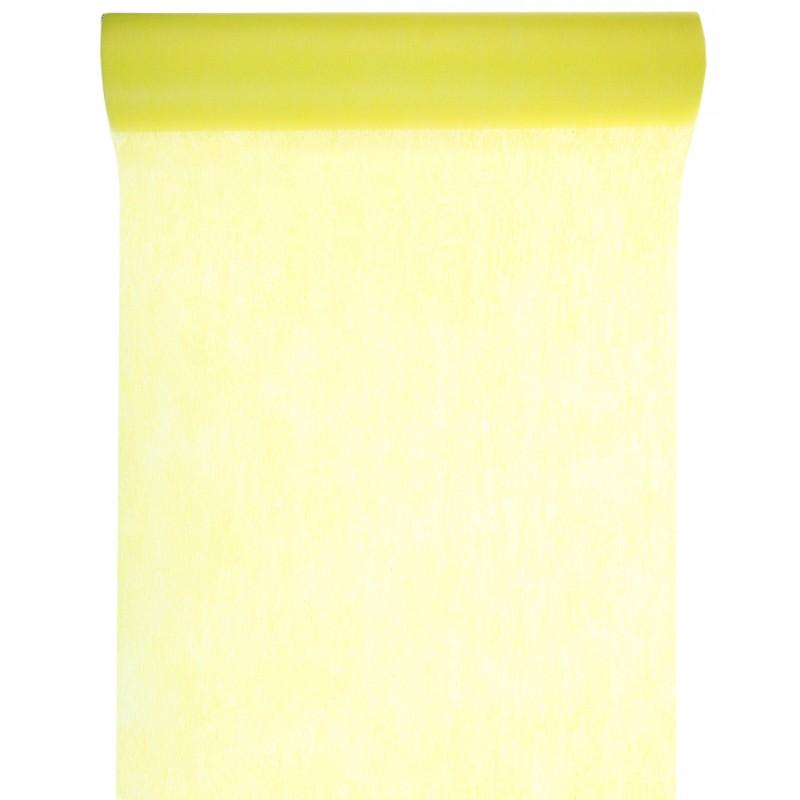 Chemin de table en non tiss jaune for Chemin de table jaune