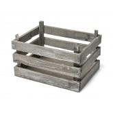 Cagette en bois blanchi 20x15x12cm