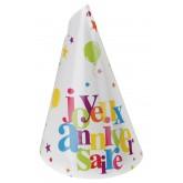 Chapeaux   Joyeux Anniversaire multicolore x 10