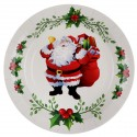Assiette en carton Père Noël x 10