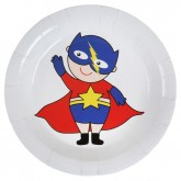 Assiettes Super Hero Boy x 10