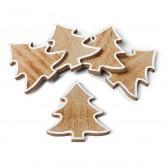 5 sapins marque-places en bois