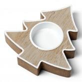 Bougeoir sapin en bois 11 cm