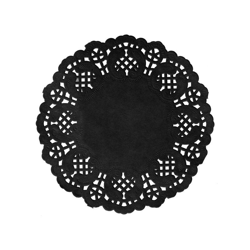 set de table dentelle noir x 10 - Set De Table Scandinave