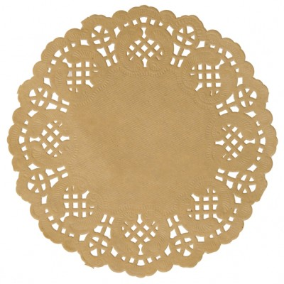 Set de table dentelle Kraft naturel x 10