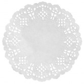 Set de table dentelle Blanc x 10