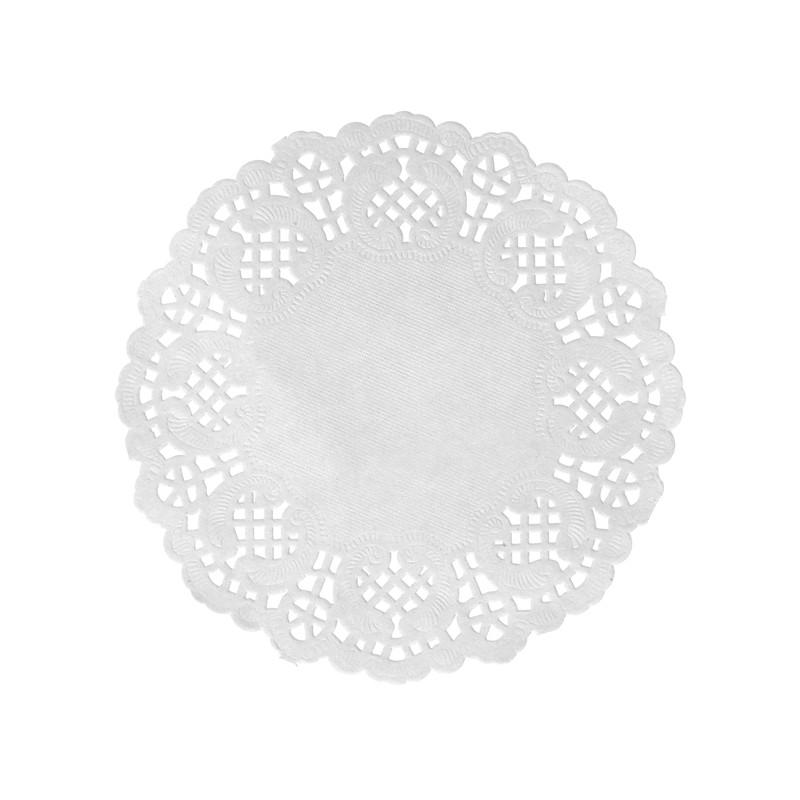 set de table dentelle blanc x 10 - Set De Table Scandinave