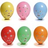 Ballons rigolos multicolore (x6)