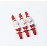 6 pinces bonhomme de neige 4.5 cm