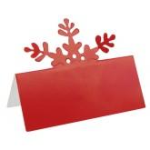 Carton marque place x 10 Rouge