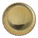 Assiette ronde Ø23 cm Métallisée en carton (x10) or