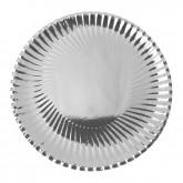 Assiettes rondes métallisées Argent x 10