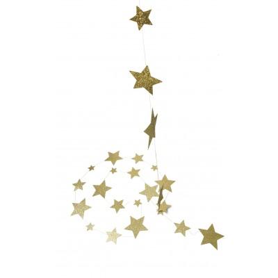 Guirlande de 45 étoiles or 5 m
