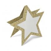 10 marque-places étoiles or 8x7 cm