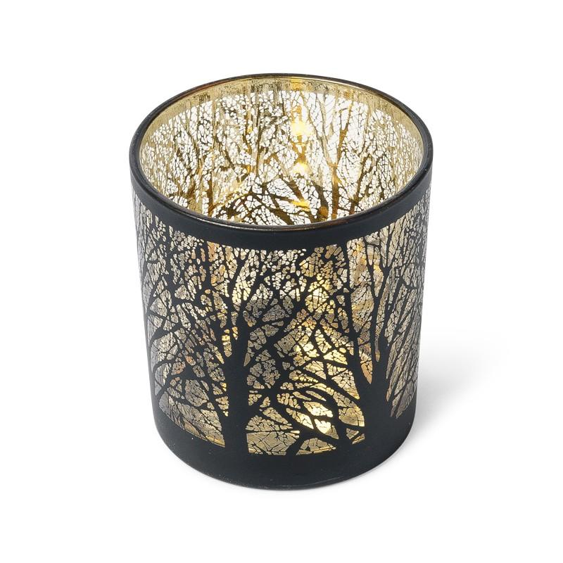 photophore arbre noir et or. Black Bedroom Furniture Sets. Home Design Ideas