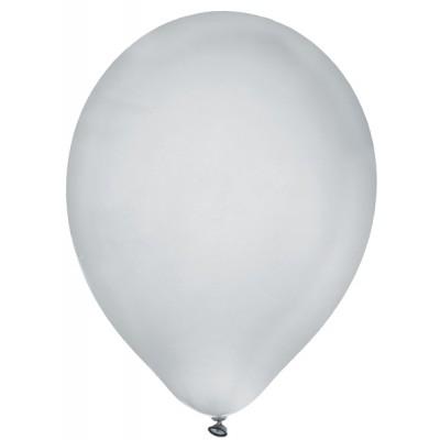Ballon métallisé argent x8