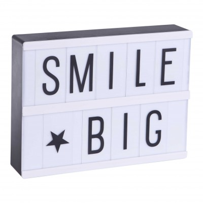 Lightbox A5 + Set de 85 lettres ABC Noir