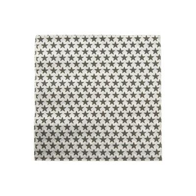 Serviettes en papier blanches avec étoiles grises