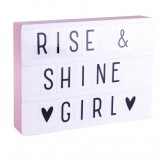 Lightbox A4 Rose  + Set de 85 lettres ABC Pastel