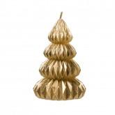 Bougie géométrique en forme de sapin doré